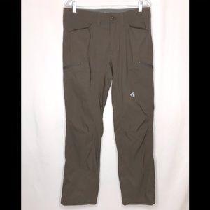 Eddie Bauer First Ascent Mens Outdoor Pants 33x32 Hiking Lightweight Brown